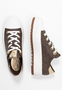 MICHAEL Michael Kors - KEEGAN LACE UP - Sneakersy niskie - brown - 3