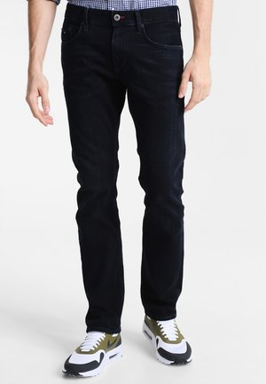 DENTON - Džíny Straight Fit - blue black