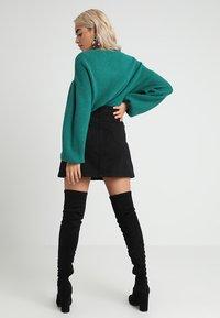 New Look Petite - BUTTON SKIRT - A-line skirt - black - 2