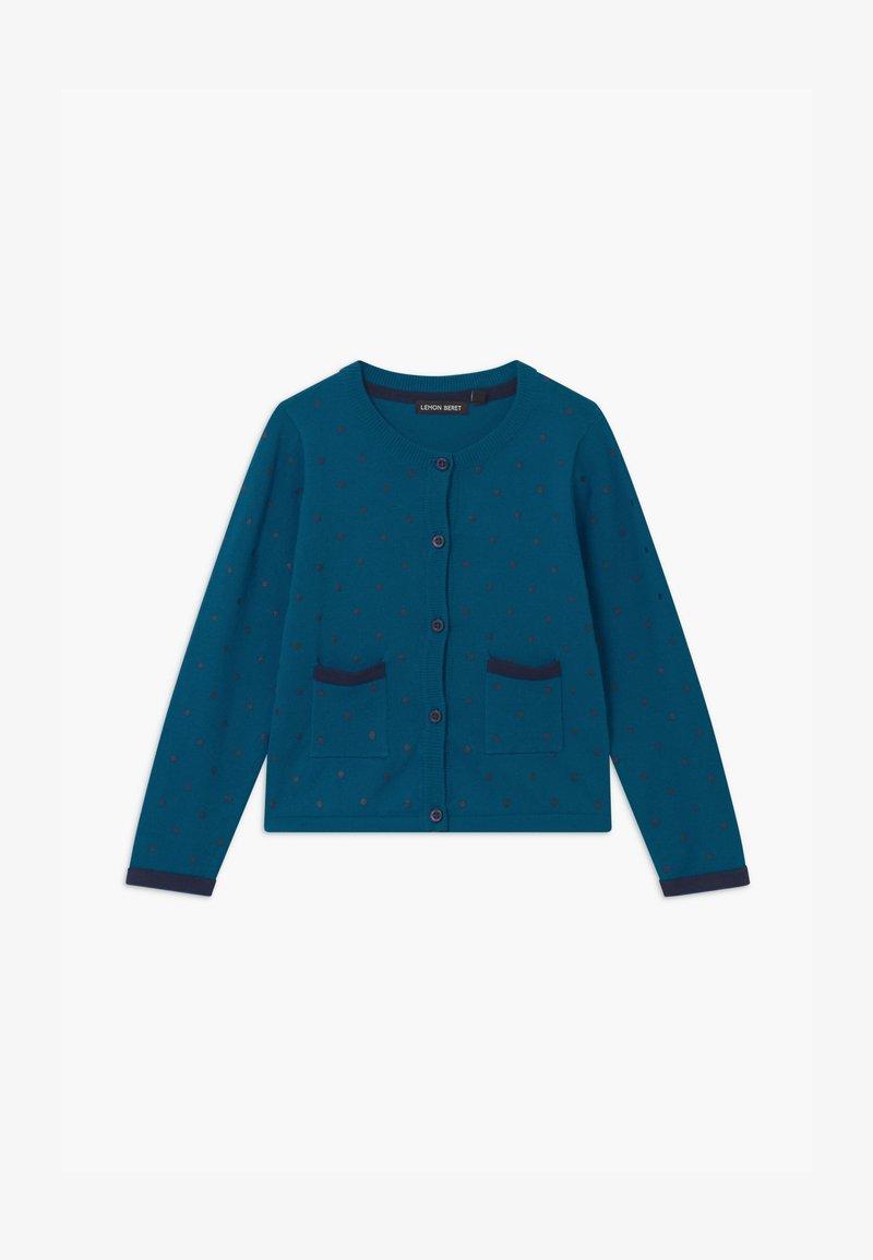 Lemon Beret - SMALL GIRLS - Cardigan - blue saphire