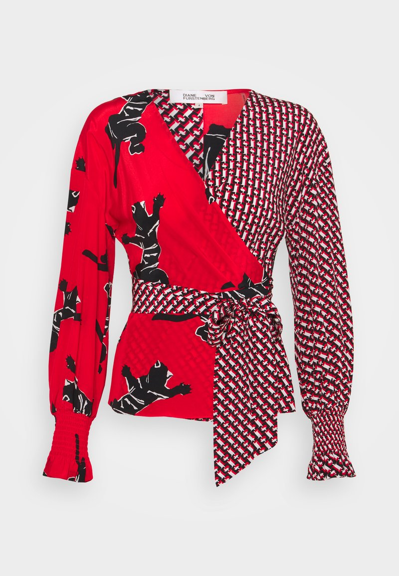 Diane von Furstenberg - TAMARA  - Pitkähihainen paita - red