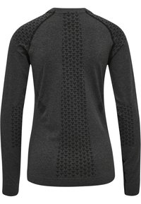 Hummel - HMLCI SEAMLESS  - Long sleeved top - black melange - 6
