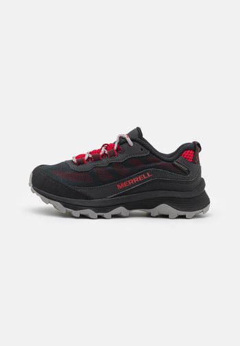 MOAB SPEED LOW WTRPF UNISEX - Hiking shoes - grey/black/red