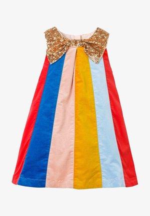 MIT GLITZERNDER SCHLEIFE - Day dress - rockabilly-rot/bunt/gestreift