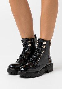 River Island Wide Fit - Platform ankle boots - black - 0