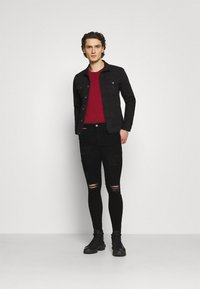 11 DEGREES - DISTRESSED SKINNY FIT - Jeans Skinny Fit - jet black wash - 1