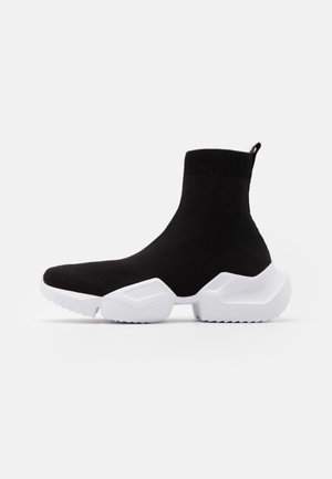 Sneaker high - black/white