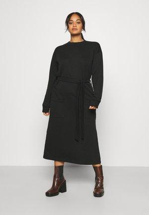 FRONT POCKET MIDI SWEAT - Day dress - black
