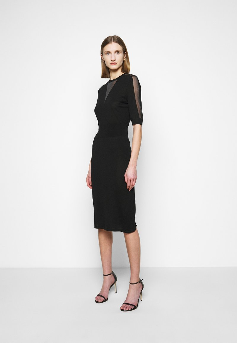 Pinko - RALLY ABITO INTARSIO  - Pletené šaty - black
