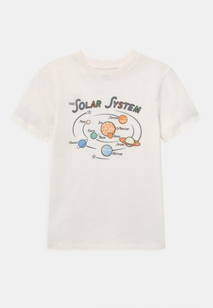 DOWNTOWN SHORT SLEEVE TEE - Print T-shirt - retro white