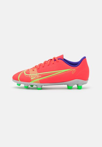 MERCURIAL JR VAPOR 14 CLUB FG/MG UNISEX - Moulded stud football boots - bright crimson/metallic silver