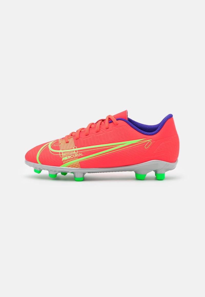 Nike Performance - MERCURIAL JR VAPOR 14 CLUB FG/MG UNISEX - Kopačky lisovky - bright crimson/metallic silver