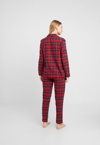 Benetton - DYED CHECK FRONT OPENING SET - Pigiama - red tartan - 2