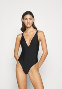 Hunkemöller - ANIMAL BATHING SUIT - Badedrakt - black - 1