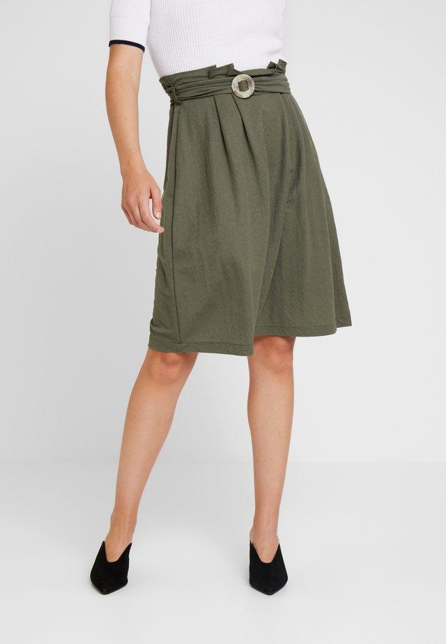 Spódnica trapezowa - khaki