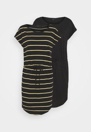 ONLMAY DRESS 2PACK  - Jersey dress - black/double yolk