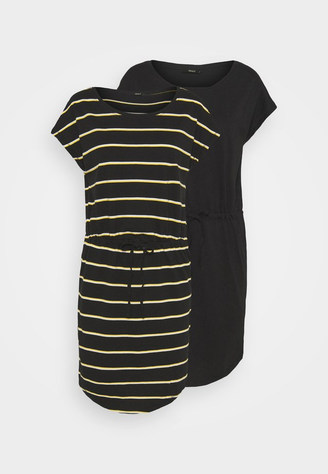 ONLMAY DRESS 2PACK  - Jerseyjurk - black/double yolk