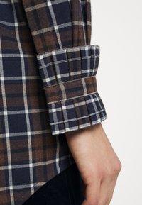 Victoria Beckham - RUFFLE - Button-down blouse - brown/navy - 7