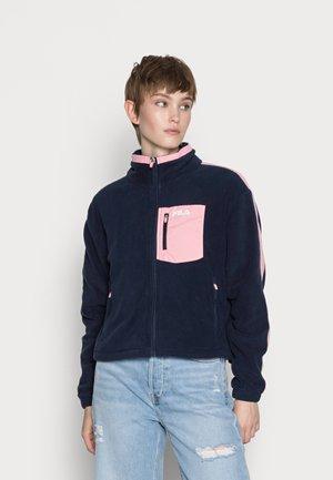 EPONA CROPPED JACKET - Fleece jacket - black iris-peony