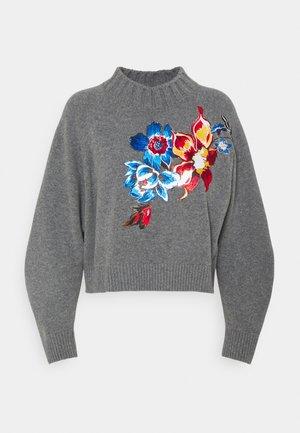 FLOWER - Trui - melange grey