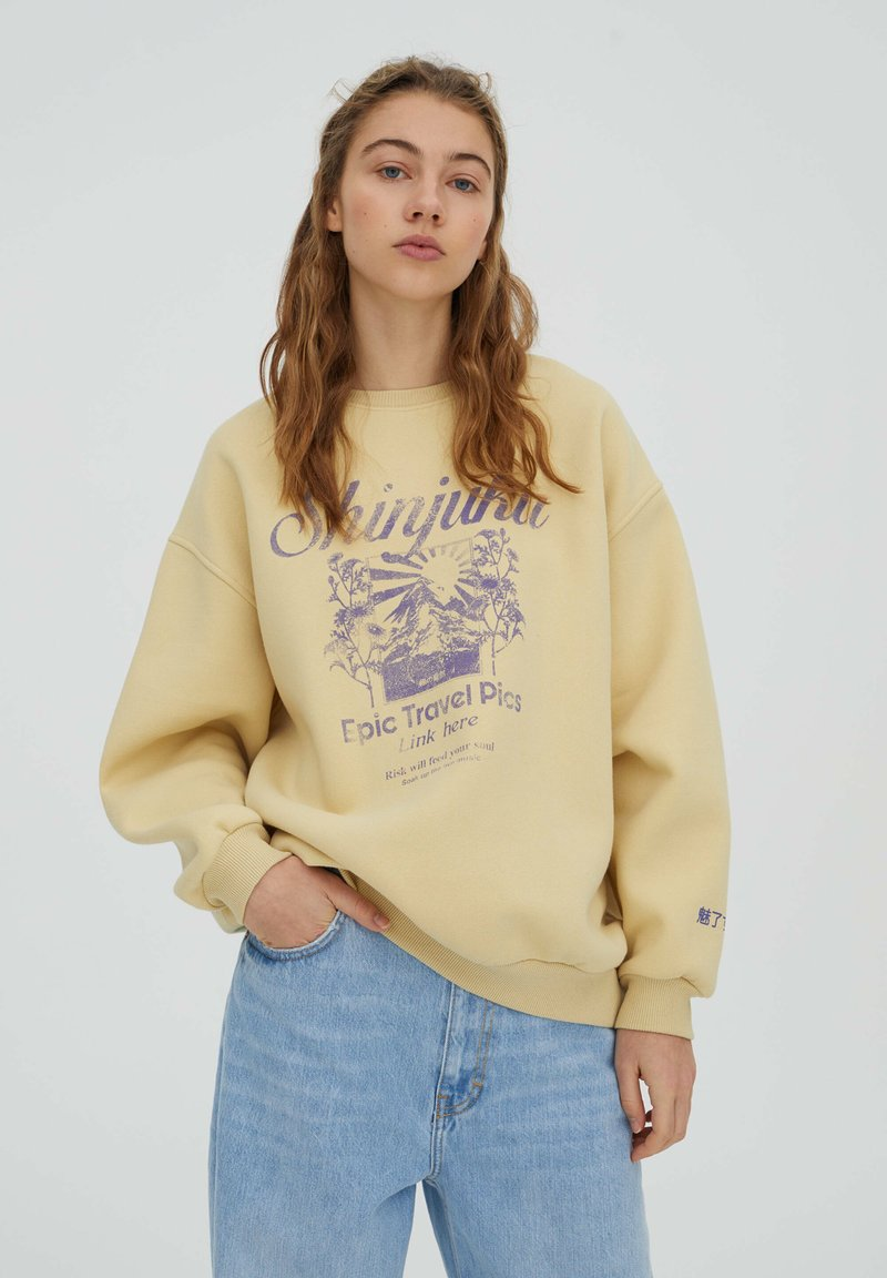 PULL&BEAR - Sweatshirt - yellow