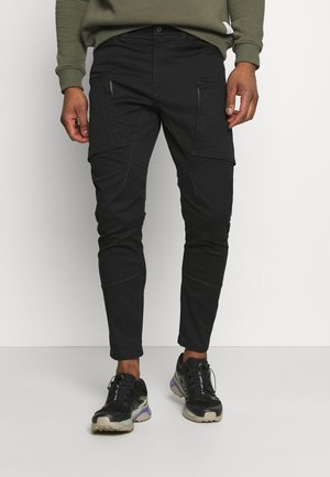ZIP - Pantalones cargo - dark black
