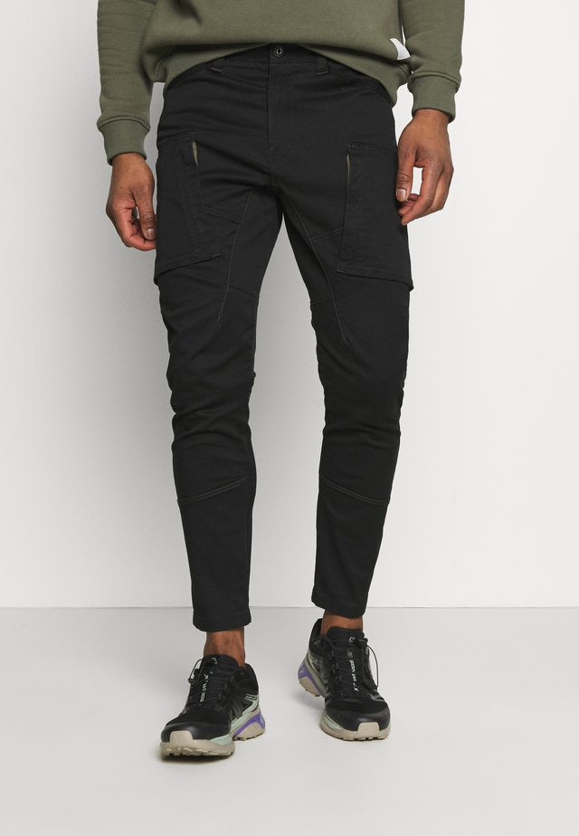 ZIP - Cargo trousers - dark black