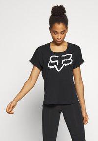 Fox Racing - RESPONDED V NECK - T-Shirt print - black - 0