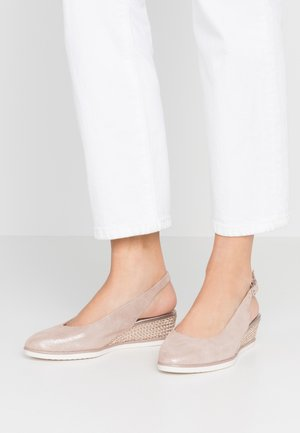 SLING BACK - Wedges - rose pearl