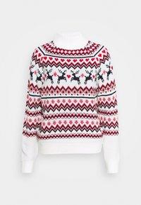 Fashion Union - CHRISTMAS REINDEER FAIR ISLE - Jumper - cream - 0
