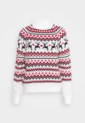 REINDEER FAIR ISLE - Jumper - cream