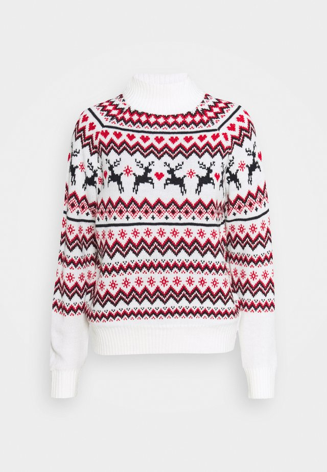 REINDEER FAIR ISLE - Pullover - cream