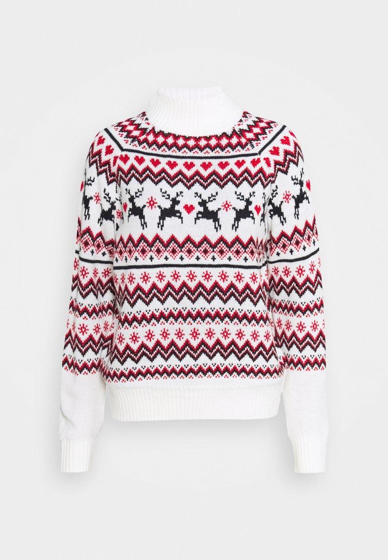 Fashion Union - CHRISTMAS REINDEER FAIR ISLE - Jumper - cream
