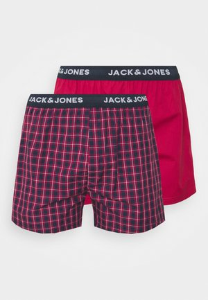 CHECK TRUNKS 2 PACK - Boxer shorts - red bud/red bud