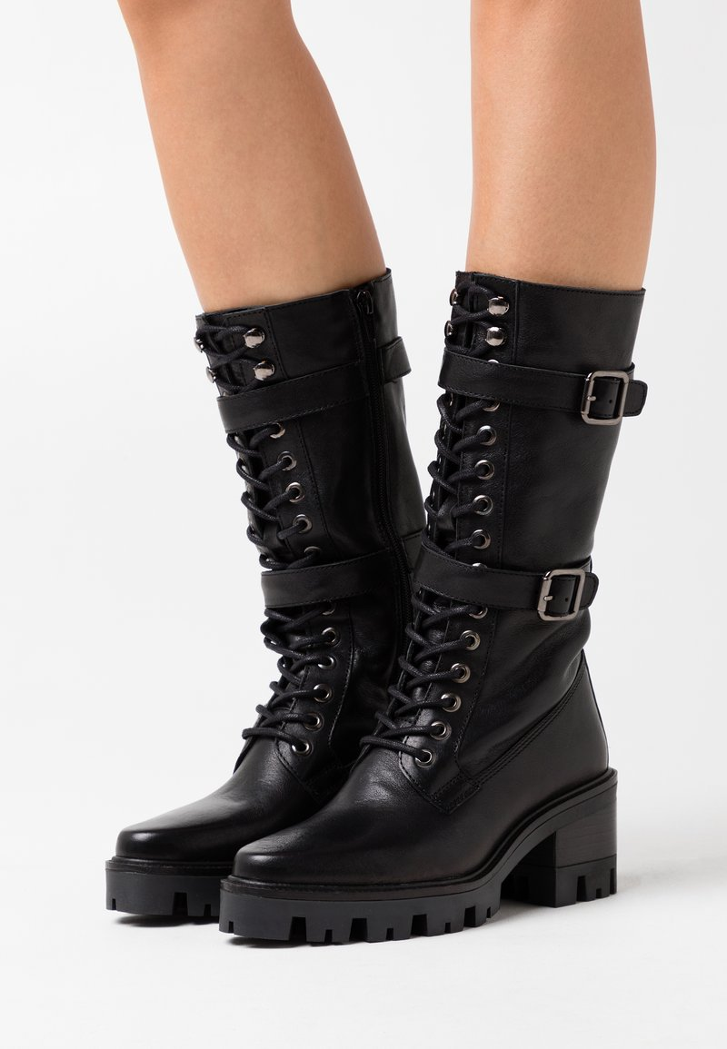 Alpe - AMELIE - Platform-saappaat - black
