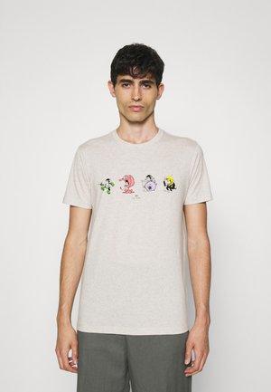SLIM FIT 4 MONKIES - Potiskana majica - off-white
