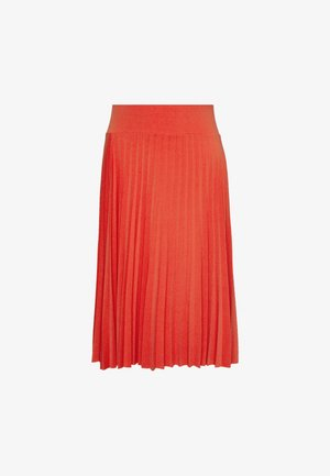 Plisse A-line mini skirt - A-line skirt - orange