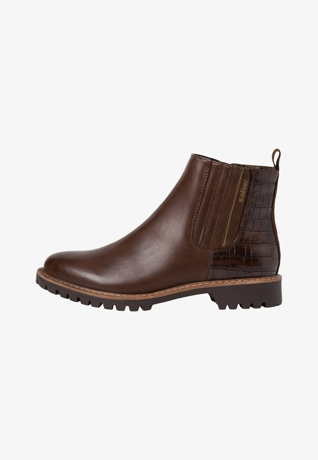 CHELSEA BOOT - Boots à talons - brown
