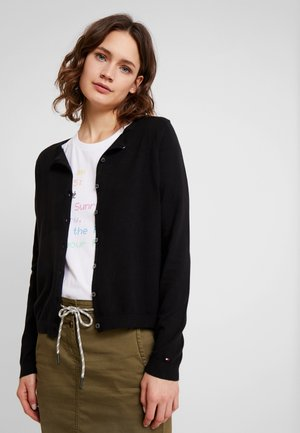HERITAGE BUTTON UP CARDIGAN - Chaqueta de punto - black
