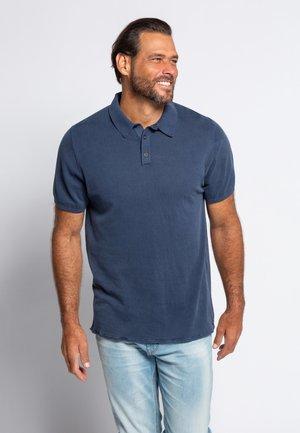 JP 1880 HERREN GROSSE GRÖSSEN STRICK-POLOSHIRT - Polo shirt - navy