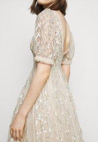 Needle & Thread - SEQUIN GINGHAM ANKLE GOWN - Společenské šaty - champagne/blue - 4