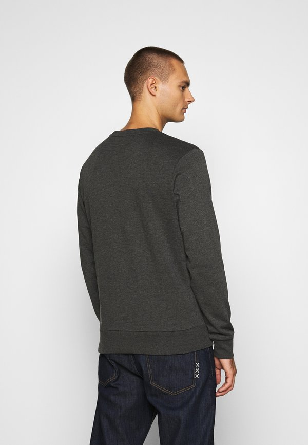 Jack & Jones JORBASIC CREW NECK 2 PACK - Bluza - dark grey melange/ciemnoszary melanż Odzież Męska HDOQ