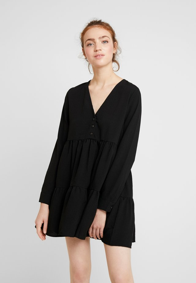 ENTEAK DRESS - Korte jurk - black