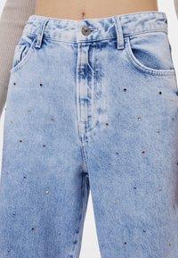 Bershka - Široké džíny - blue denim - 3