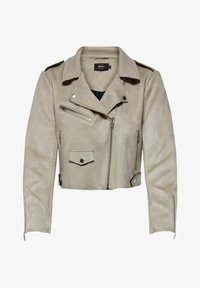 ONLY - Faux leather jacket - pumice stone - 4