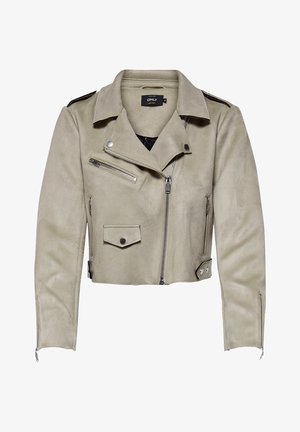 Faux leather jacket - pumice stone