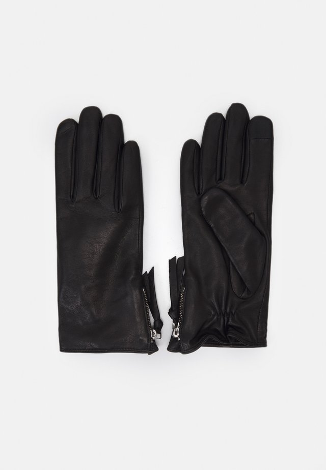 GROUND GLOVES TOUCH - Gants - black