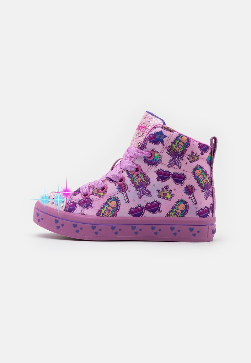Skechers - TWI LITES - High-top trainers - pink/multicolor