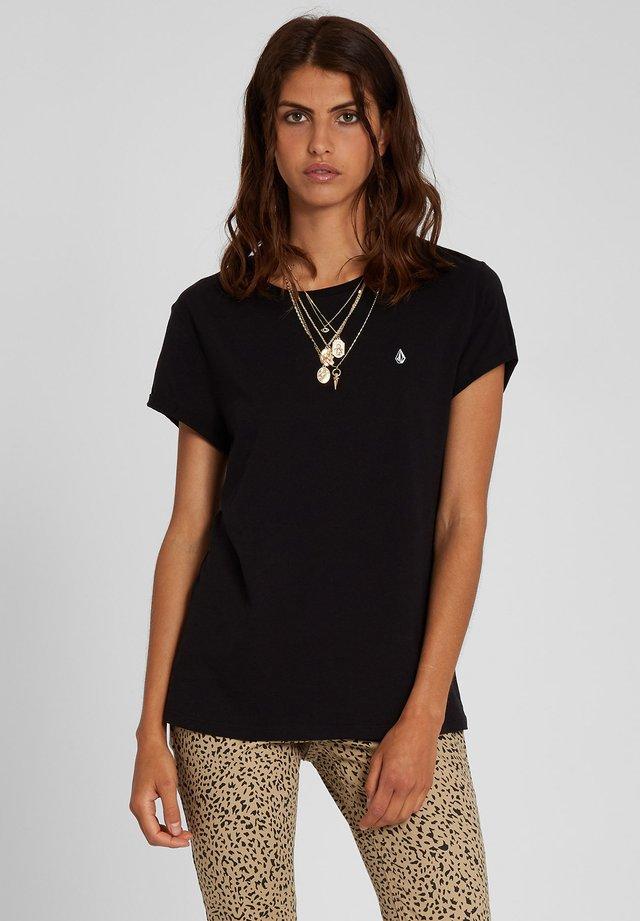 STONE BLANKS TEE - T-Shirt basic - black