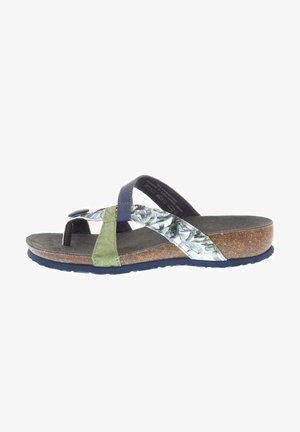 JULIA - Wedge sandals - jeans/kombi